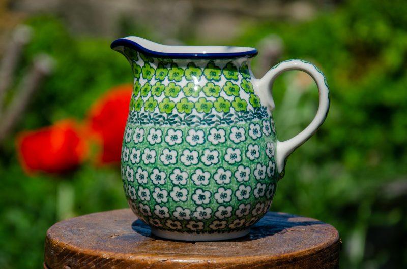Polish Pottery Green Meadow Small Jug from Polkadot Lane UK