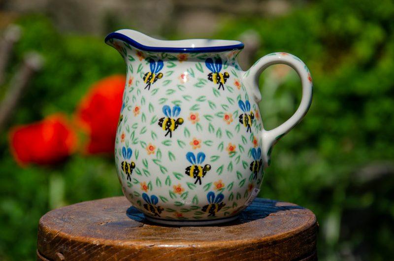 Polish Pottery Bee Pattern Small Jug from Polkadot lane UK