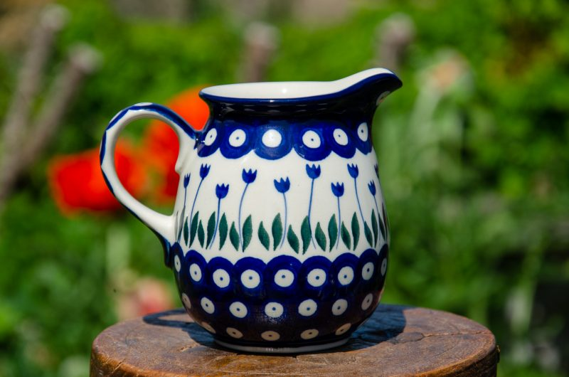 Polish Pottery Flower Spot Small Jug from Polkadot lane