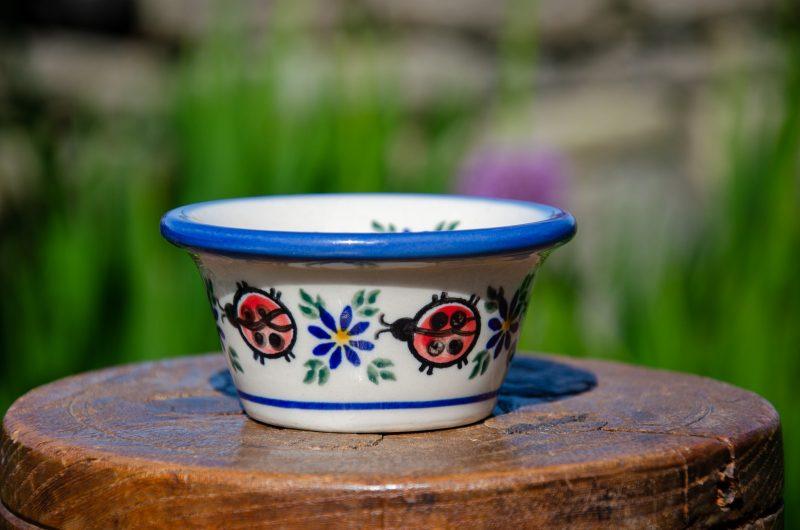 Polish Pottery Ladybird Small Dip Bowl from Polkadot Lane