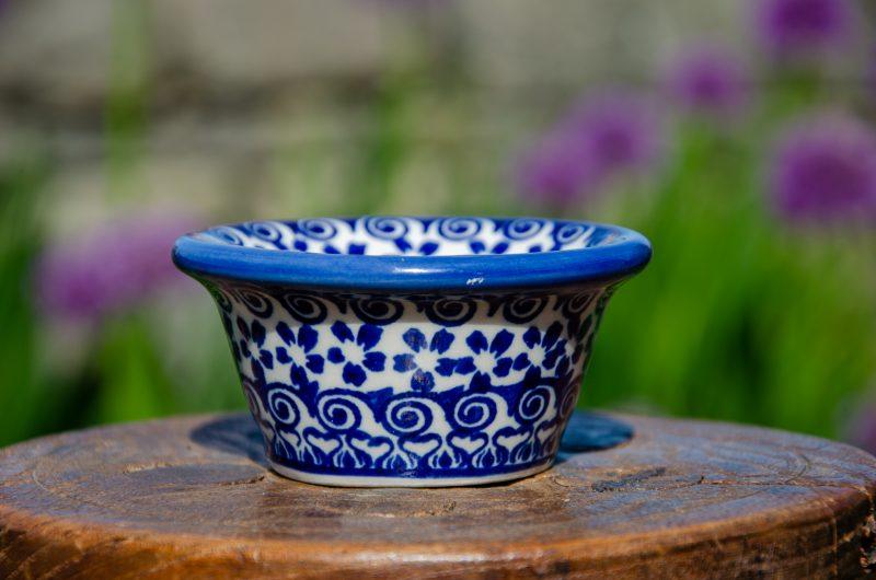 Blue Flower Dip Bowl from Polkadot Lane UK