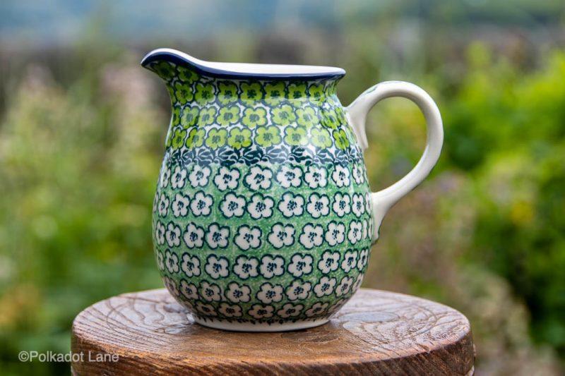 Green Meadow Small Jug 400ml by Ceramika Artystyczna