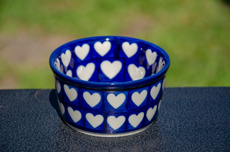 Hearts Pattern Small Ramekin from Polkadot Lane UK