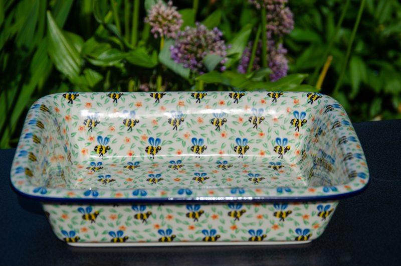 Bee Pattern Large Oven Dish from Polkadot Lane UK
