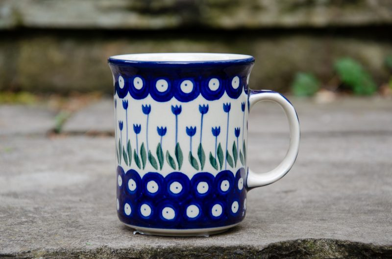 Flower Spot Large Tea Mug from Polkadot Lane UK