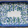 Trellis Pattern Shallow Oven Dish by Ceramika Andy Boleslawiec
