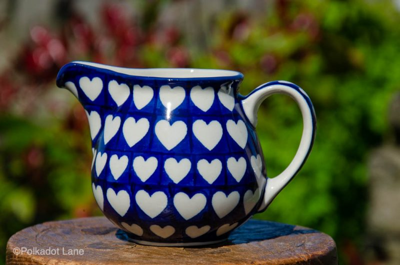 Hearts Pattern Milk Jug by Ceramika Artystyczna