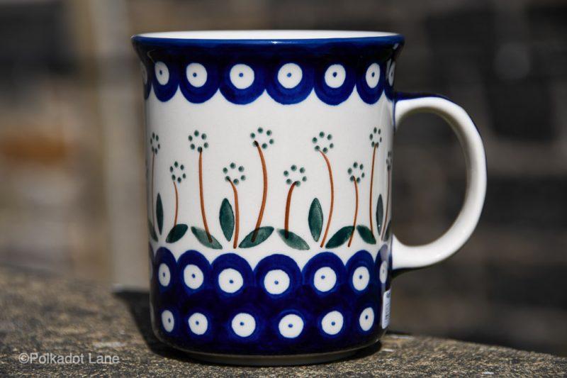 Polish Pottery Daisy Spot Large Tea Mug by Ceramika Artystyczna