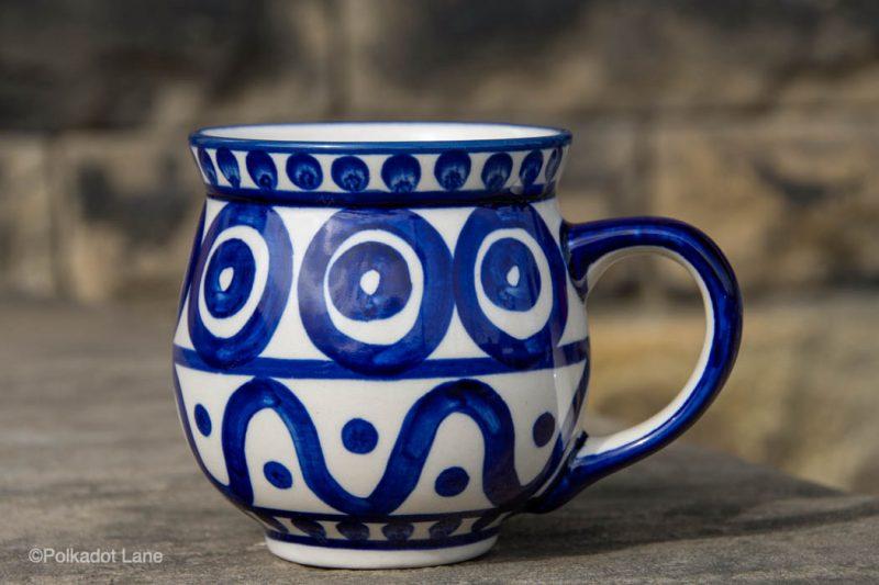 Circle and Swirl Large Mug by Ceramika Manufaktura Polish Pottery