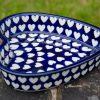 Hearts Pattern Shallow Heart dish from Polkadot Lane UK