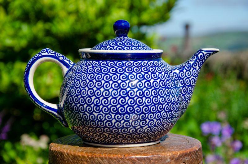 Swirl Pattern Teapot for 2 by Ceramika Manufaktura