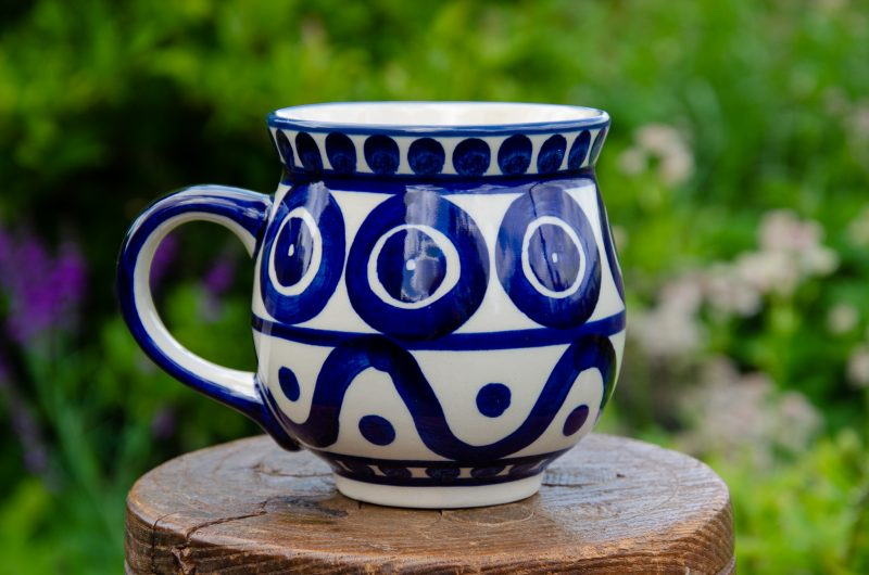 Circle and Swirl Large Mug from Polkadot Lane UK