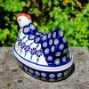 Peacock Flower Hen Egg Container from Polkadot Lane UK