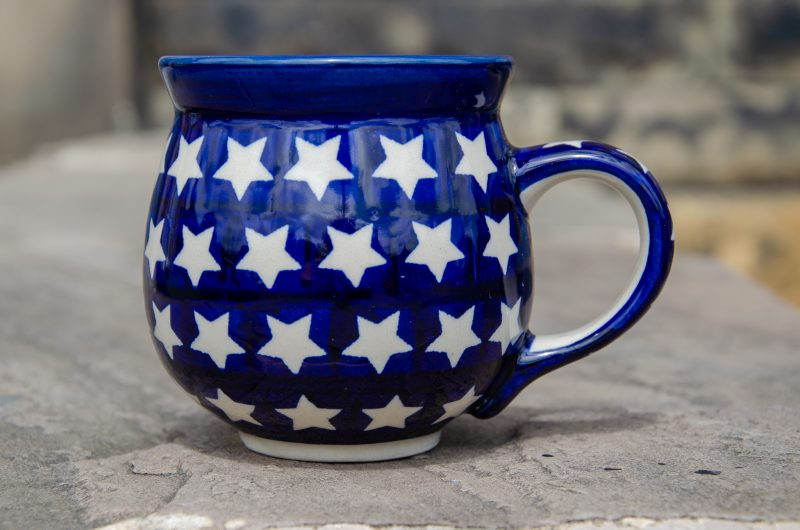 White Star Pattern Mug from Polkadot Lane UK