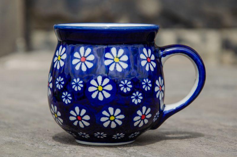 Midnight Daisy Mug by Ceramika Manufaktura