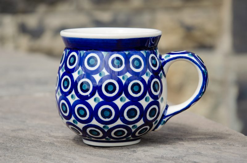 Polish Pottery Circles Mug from Polkadot Lane UK