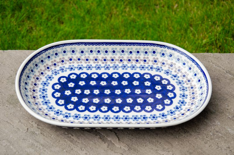 Spotty Flower Serving Plate Ceramika Manufaktura