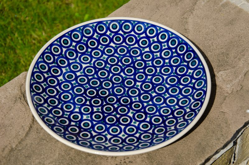 Circles Pattern Dinner Plate by Ceramika Manufaktura Boleslawiec
