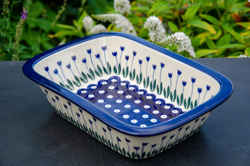 Polish Pottery Flower Spot Small oven Dish by Ceramika Artystyczna