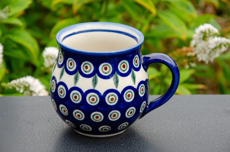 Ceramika Andy Boleslawiec Peacock Leaf large Mug