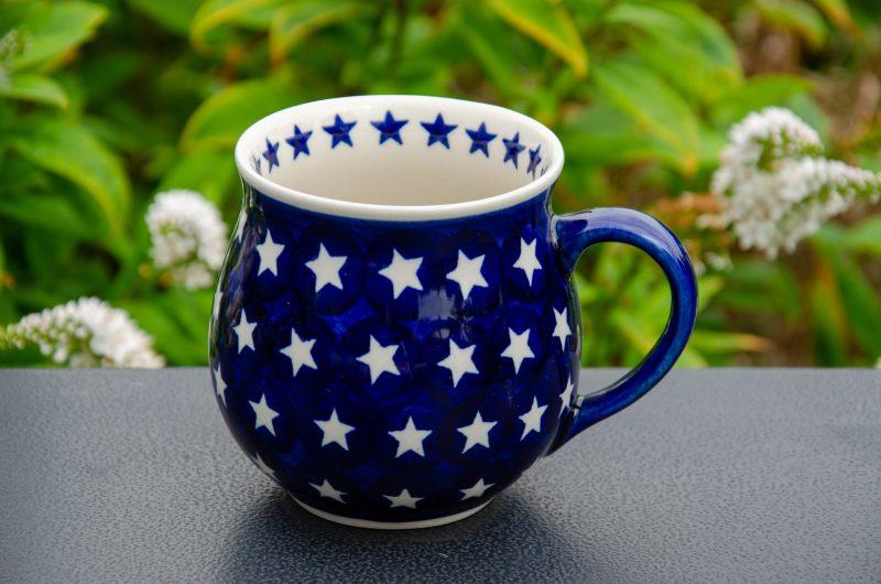 Star Pattern Large Mug by Ceramika Andy Boleslawiec