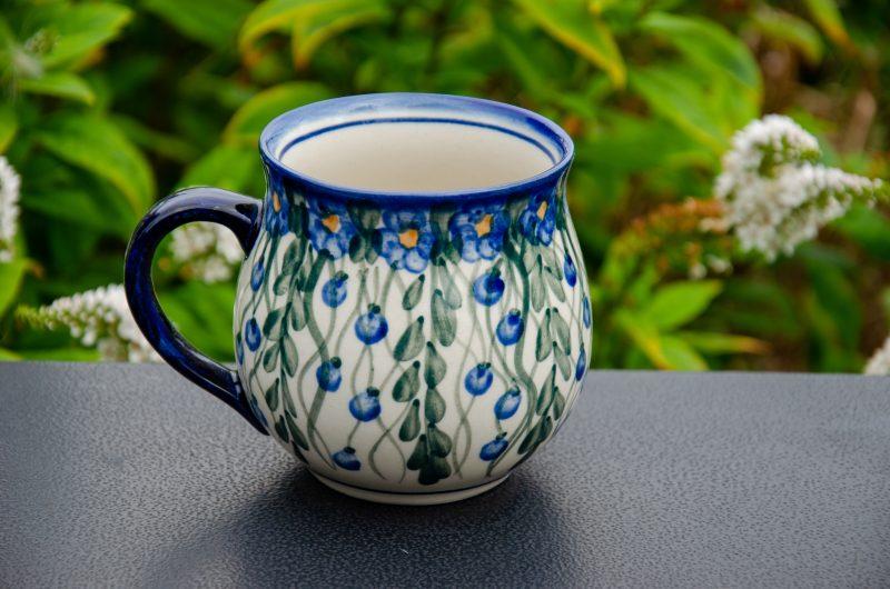 Ceramika Andy Trellis Pattern Unikat Mug from Polkadot Lane UK
