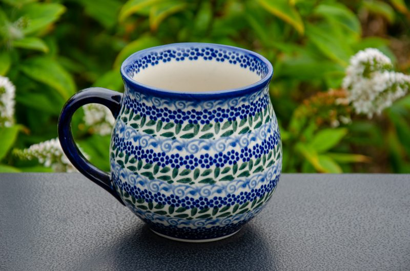 Blue Green Large Mug by Ceramika Andy Boleslawiec