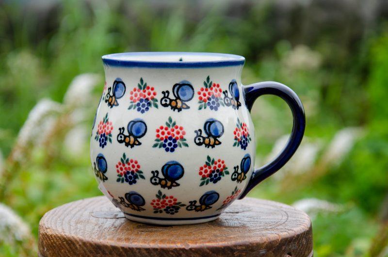 Polish Pottery Bumble Bee Mug by Ceramika Andy