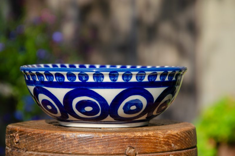 Polish Pottery Circle and Swirl Dessert Bowl from Polkadot Lane