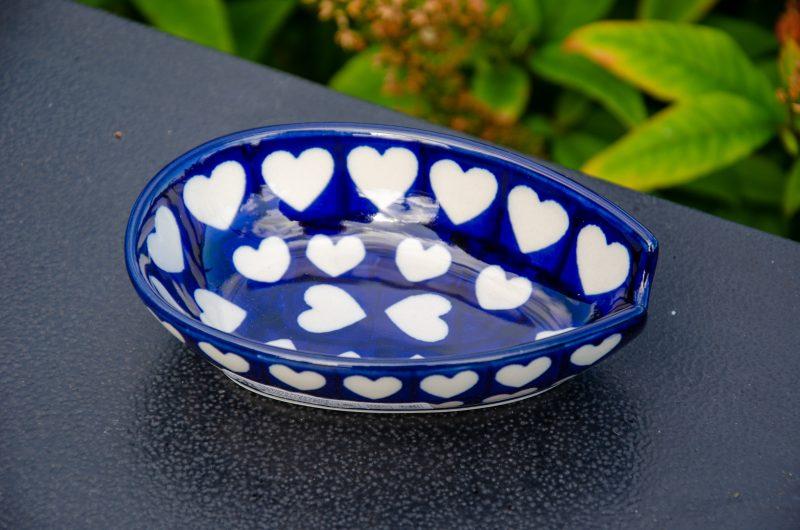 Ceramika Artystyczna Hearts Pattern Spoon Rest