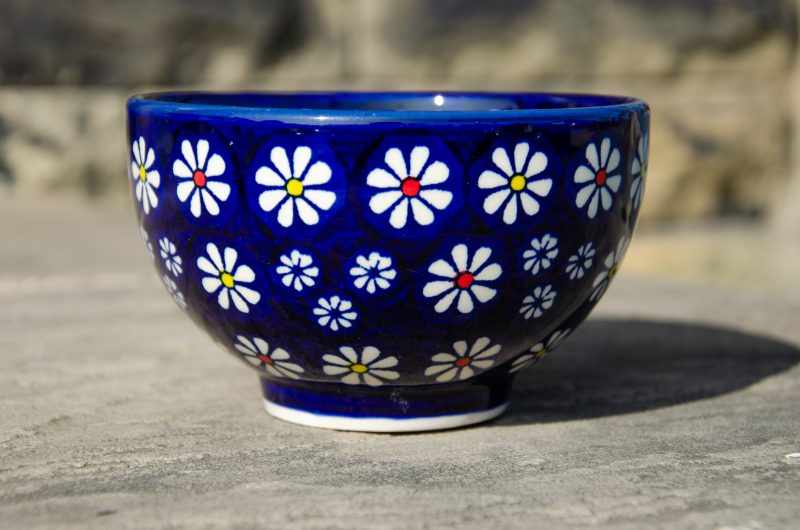 Midnight Daisy French Bowl Unikat by Ceramika Manufaktura