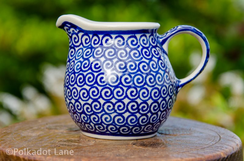 Swirl Pattern Small Milk Jug by Ceramika Manufaktura Polish Pottery