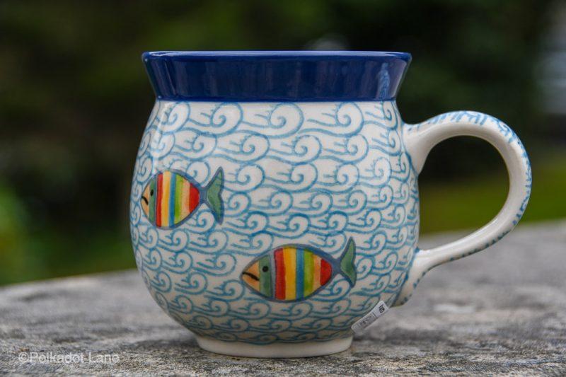 Fish in the Sea Medium Mug by Ceramika Artystyczna Polish Pottery