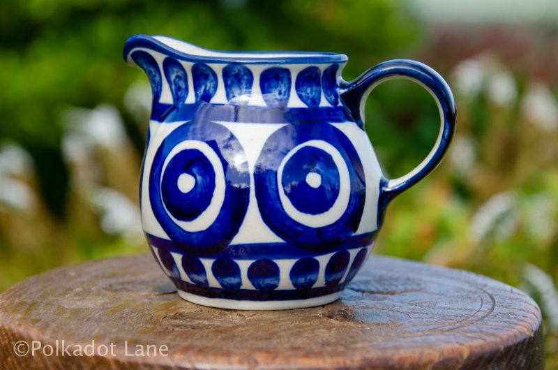 Circle and Swirl Unikat Polish Pottery Small Milk Jug