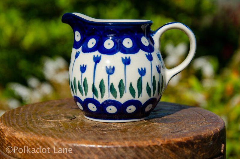 Flower Spot Small Milk Jug by Ceramika Artystyczna Polish Pottery