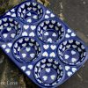 Polish Pottery Hearts Pattern Yorkshire Pudding Dish from Polkadot Lane UK