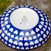 Ceramika Artystyczna Hearts Pattern Polish Salad Bowl