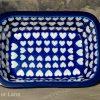 Ceramika Artystyczna Hearts Pattern Small Oven Dish From polkadot Lane