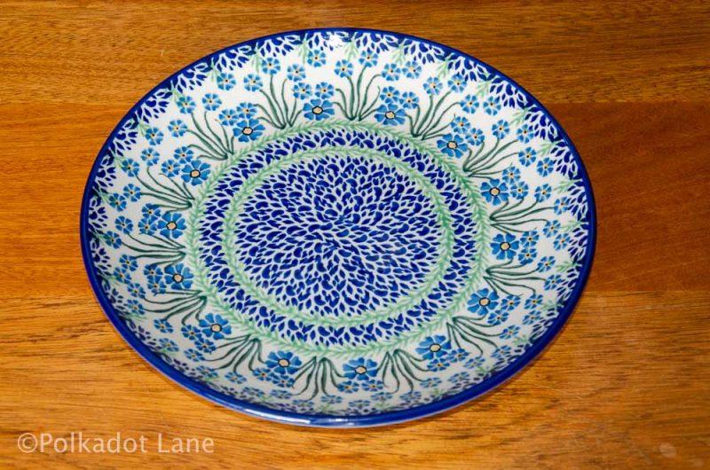 Polish Pottery Forget Me Not Dinner Plate Ceramika Artystyczna