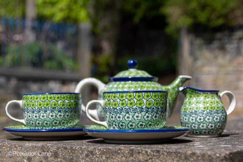 Polish Pottery Tea Set for Two by Ceramika Artystyczna