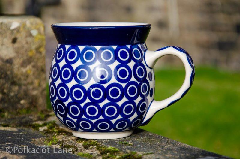 Circles Pattern Large Mug Ceramika Artystyczna Polish Pottery