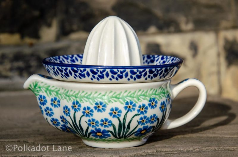 Forget Me Not Lemon Squeezer by Ceramika Artystyczna Polish Pottery
