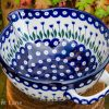 Flower Spot Mixing Bowl Polish Pottery