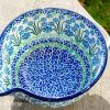 Polish Pottery Forget Me Not Mixing Bowl
