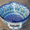 Forget Me Not Polish Pottery Mixing Bowl from Polkadot Lane UK
