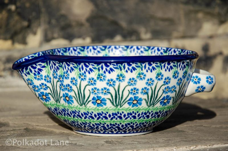 Forget Me Not Mixing Bowl by Ceramika Artystyczna Polish Pottery