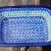 Blue Tulip Small Oven Dish by Ceramika Artystyczna Polish Pottery