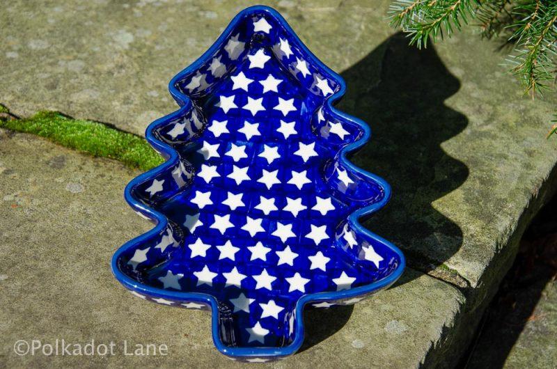 Christmas Tree Shaped Dish by Ceramika Manufaktura Polish Pottery
