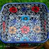Polish Pottery Mexican Flower Oven Dish From Polkadot Lane UK