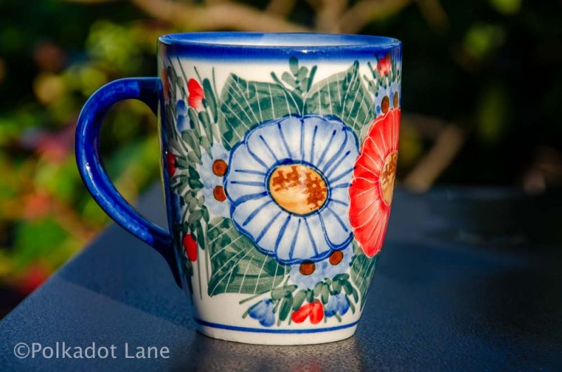 Any Polish Pottery Curved Mug Unikat